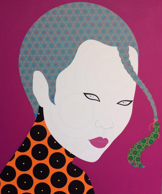 , 'She on Fucshia,' 2017, La Lanta Fine Art
