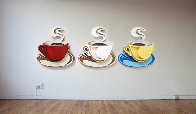 , 'Coffee installation,' 2017, Eden Fine Art