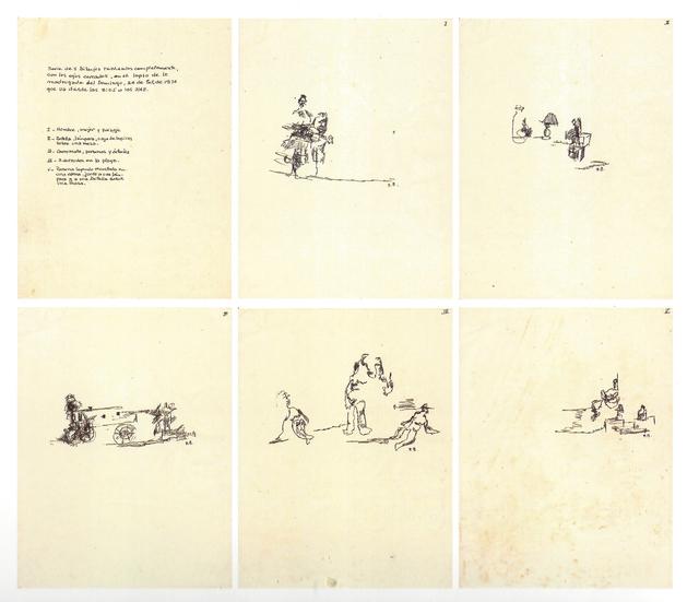 , 'Dibujos con ojos cerrados,' 1974, 80M2 Livia Benavides
