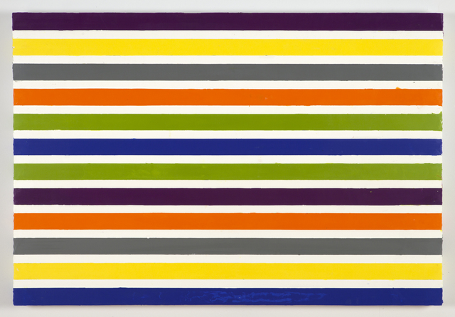 , 'A Painting In Stripes,' 2014, Nancy Hoffman Gallery