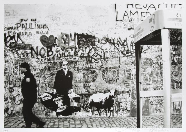 Blek le Rat, 'Cop Walking', 2008, Julien's Auctions