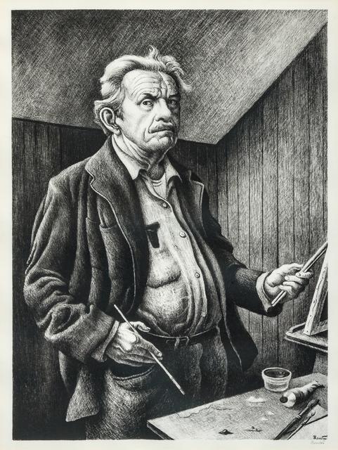 Thomas Hart Benton, 'Self Portrait', 1972, Print, Lithograph, Hindman
