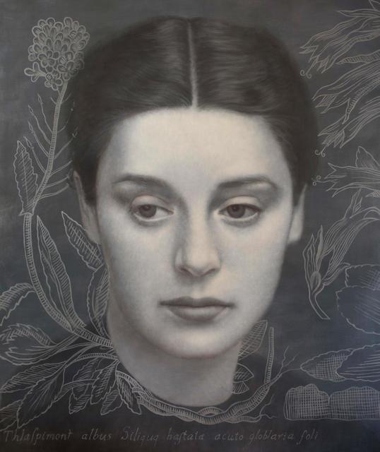 , 'Mujer con Thalaspi después de la ferrotipia de Otto Steinert.,' 2017, Nüart Gallery