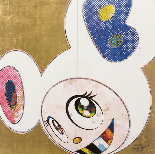 Takashi Murakami, 'DOB IN PURE WHITE ROBE (PINK AND BLUE)', 2013, Marcel Katz Art