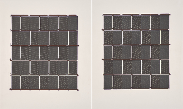 Richmond Burton, 'Thought Assembly Plane I & II', 1991, Print, Two aquatints in colors, Rago/Wright