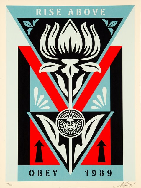 Shepard Fairey, 'Obey Deco Flower (Black)', 2019, Heritage Auctions