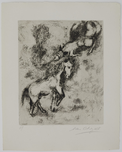 Marc Chagall, 'The Horse and the Donkey', 1927-1930, Galerie Fetzer