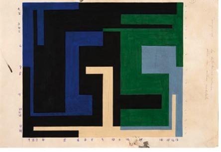, 'Estudo para composiçao VI: distribução ritmica sobre um sistema modulado,' 1953, Henrique Faria Fine Art