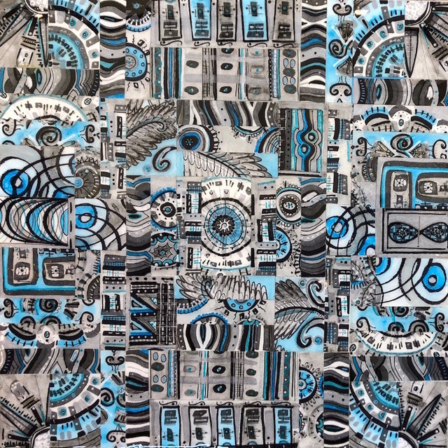 Deborah Baye, 'Blue Aztec', 2018, Solace Studio + Gallery & Contour 19