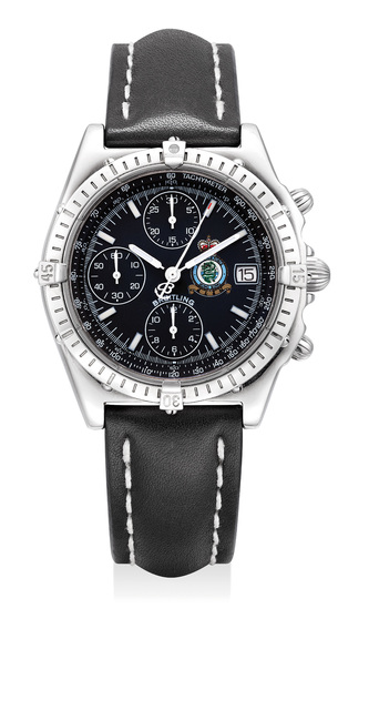Breitling, 'A fine and attractive limited edition stainless steel chronograph Royal Air Force Hong Kong wristwatch with date, made to commemorate the 1997 Handover of Hong Kong to China. Number 1251 of a limited edition of 1997 pieces.', Circa 1997, Phillips