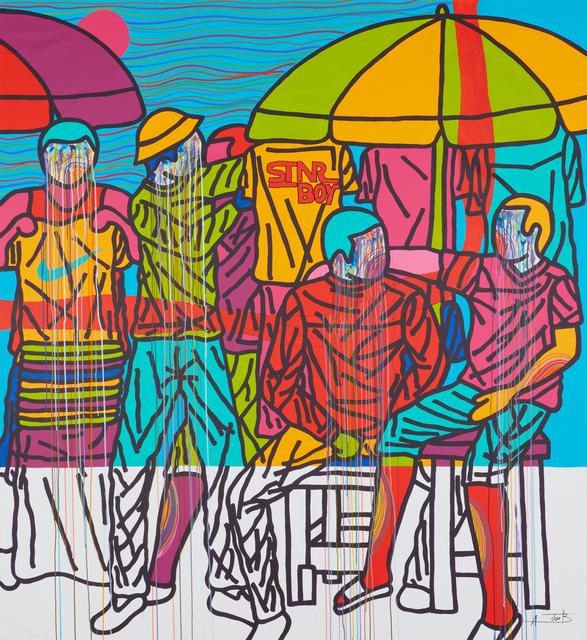 Ajarb Bernard Ategwa, 'Kololo Boys inside attack 1', 2019, Jack Bell Gallery