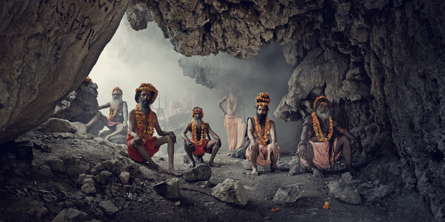 , 'XXIV 1   Cave, Sadhus,  Haridwar, India, 2016  ,' 2016, Willas Contemporary