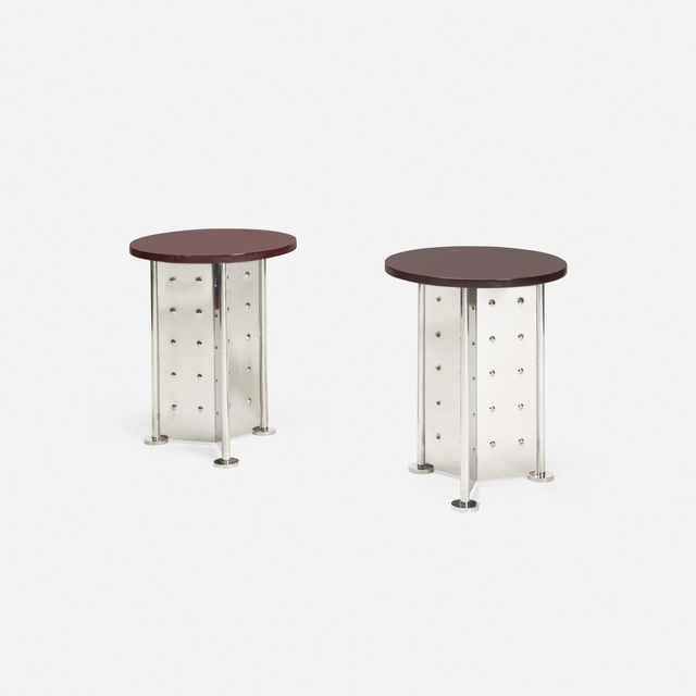 Philippe Starck, 'Occasional tables for the Royalton Hotel, pair', 1988, Wright