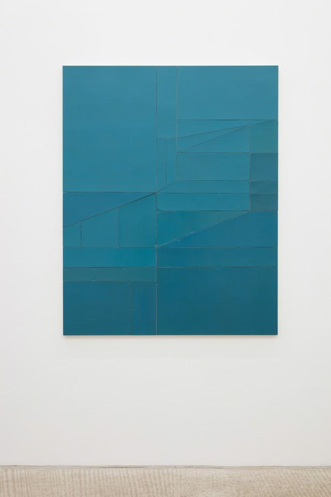 Florian Schmidt Untitled(Proximity)30 2016 Acrylic, vinyl, lacquer, cardboard, wood 150 x 120 cm