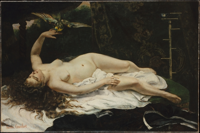 Gustave Courbet, 'Woman with a Parrot', 1866, The Metropolitan Museum of Art