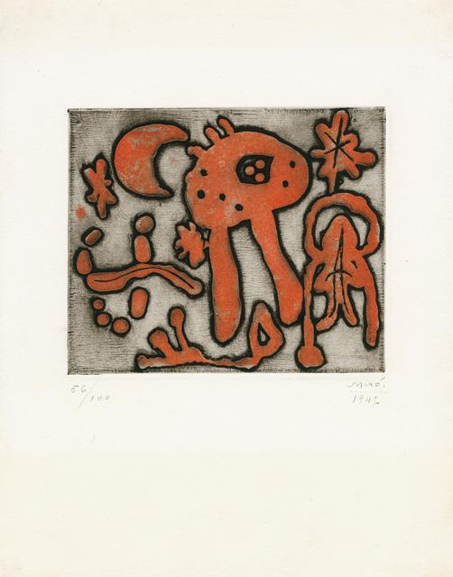 "Joan Miró, 'from ""The prints of Joan Miró"" (Michel Leiris)', 1947, Galerie Boisseree"