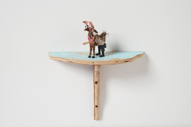 Janet Cardiff & George Bures Miller, 'Centaur', 2016, Sculpture, Mixed media sculpture with shelf, Luhring Augustine