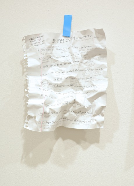 , 'Janteloven Annotated,' 2015, Gallery Poulsen