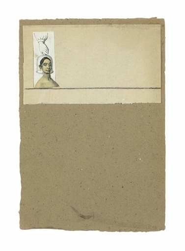 Robert Rauschenberg, 'Untitled (Female Head under Glass)', Engraving, graphite, and paper collage on paperboard, Christie's