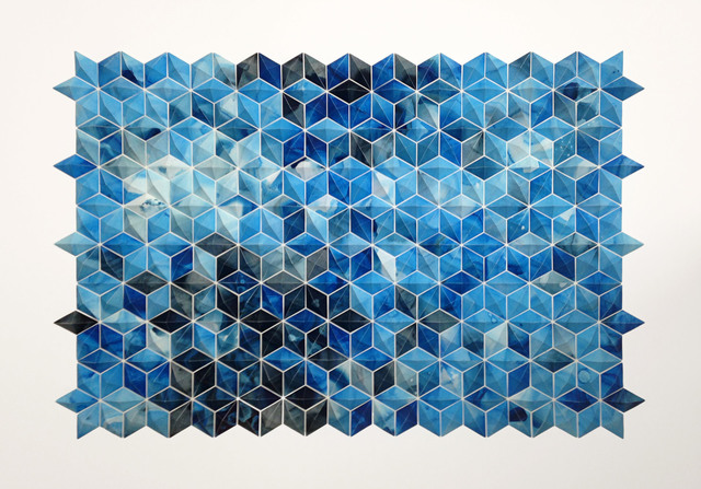 , 'Breath Castles (cerulean) framed,' 2015, Michael Warren Contemporary
