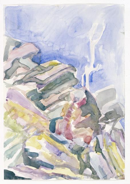 Maria Lassnig, 'Frau im Geroll', 1984, Painting, Watercolor on paper, Artsy x Rago/Wright