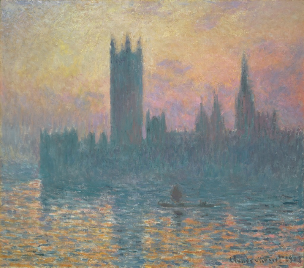 Claude Monet | The Houses of Parliament, Sunset (1903) | Artsy