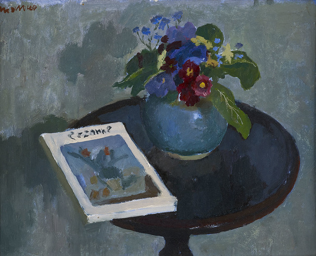 , 'Table with Flowers and Cezanne Book,' ca. 1959, The Scottish Gallery