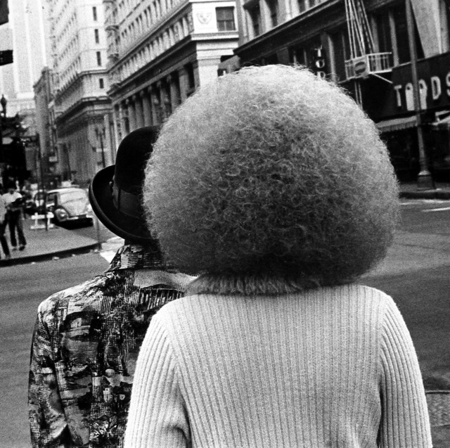 , 'Untitled (two people on the street, one with afro),' ca. 1969, GALLERY FIFTY ONE