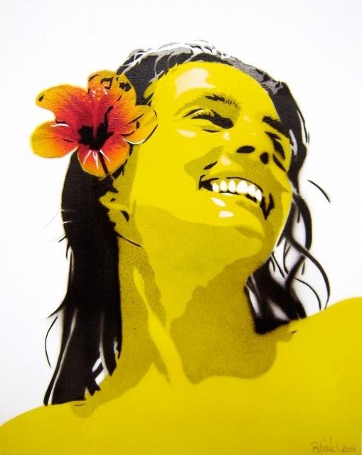 Bananensprayer Thomas Baumgärtel, 'Kerstin', 2003, Galerie Kronsbein