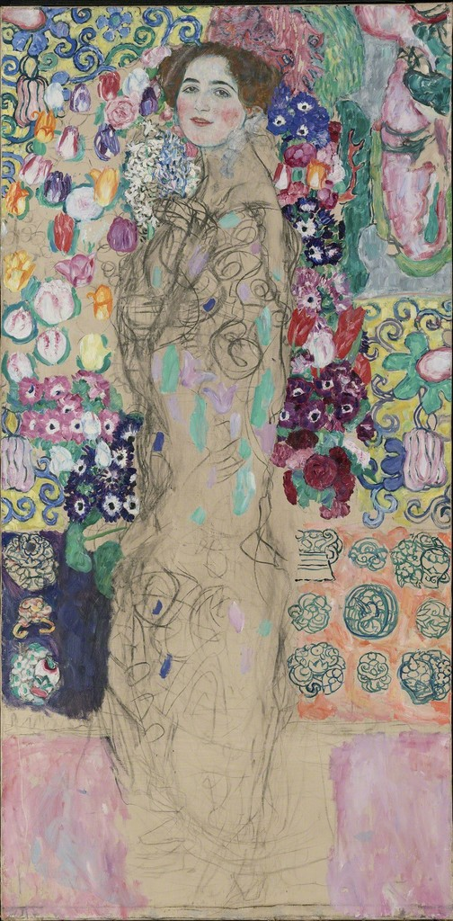 Gustav Klimt, 'Posthumous Portrait of Ria Munk III,' 1917-1918, The National Gallery, London