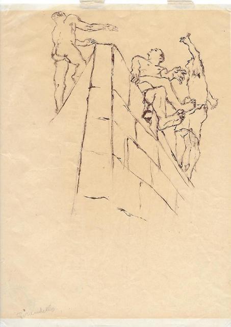 Fausto Pirandello, 'Figure su un Muro', 1937-1938, Wallector
