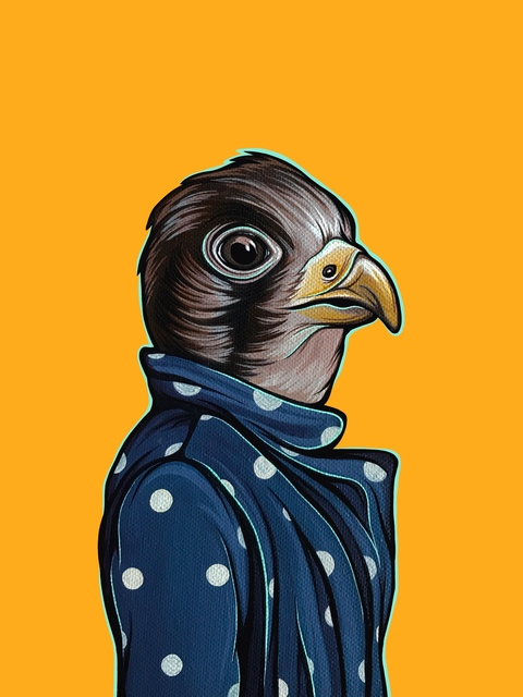 , 'Bird In Your Mom's Coat: Falcon,' 2018, Helikon Gallery & Studios