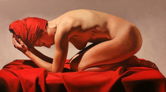 Toby Boothman, 'Girl On Red', Plus One Gallery