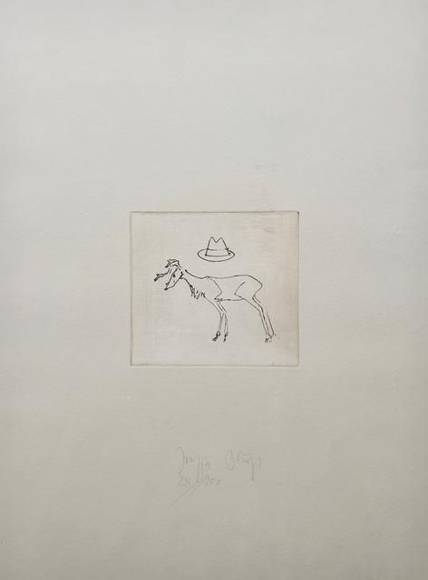 Joseph Beuys, 'Hirsch un Hut', 1980, Kunzt Gallery
