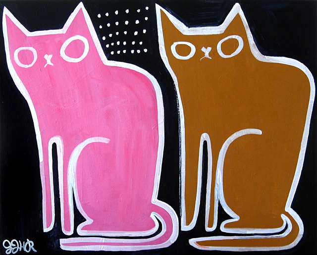 Jessica JH Roller, 'Two Old Cats', 2016, UGallery