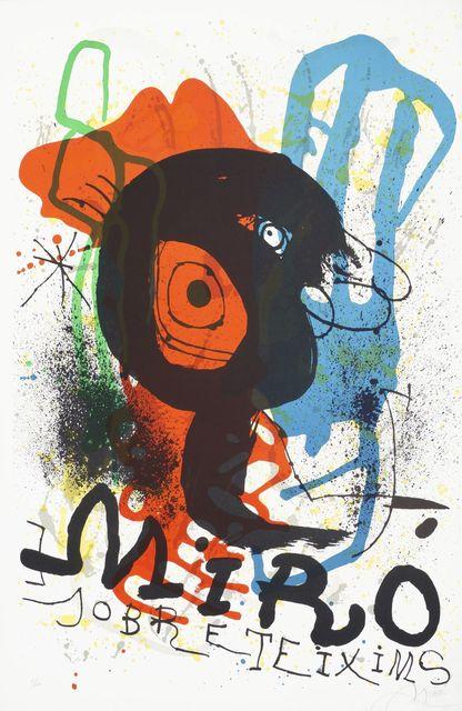 Joan Miró, 'Poster for the Exhibition Sobreteixims [Mourlot 919]', 1973, Roseberys