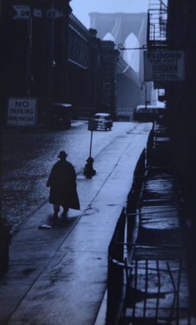 Erich Hartmann, 'Man walking toward Brooklyn bridge', 1955, °CLAIRbyKahn Galerie