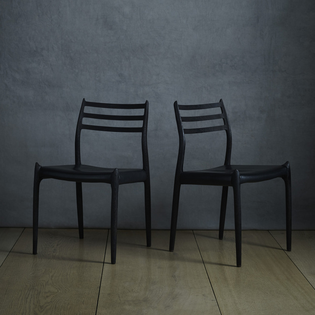 Niels Otto Møller, 'dining chairs, pair', Wright