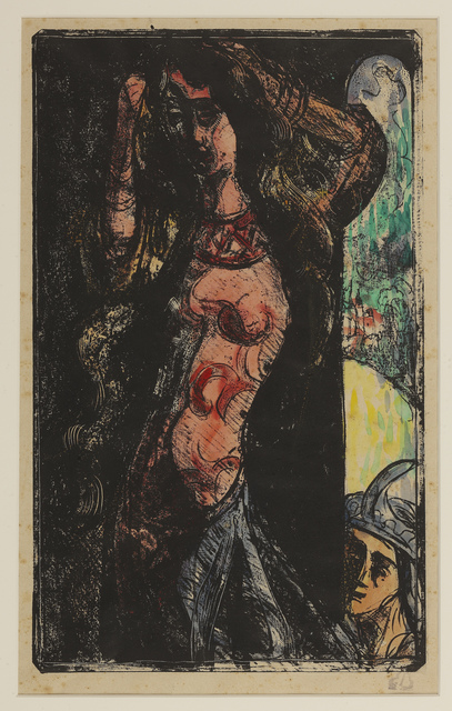 Émile Bernard, 'The Countess combs her hair', 1891-1892, Print, Zincograph on paper, hand colored, Hill-Stone, Inc.