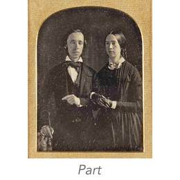 Two half-plate portrait daguerreotypes.