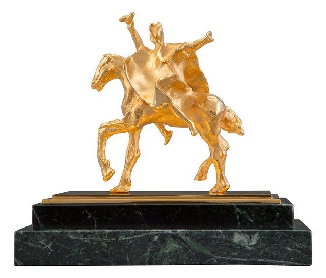 Salvador Dalí, 'Trajan Horse', 1981, Sculpture, Bronze with gold patina, Heritage Auctions