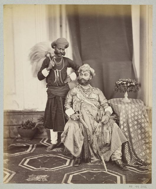, 'Tukoji Rao II Holkar, maharaja d'Indore,' Madhya Pradesh, 1863, 1870, Musée national des arts asiatiques - Guimet