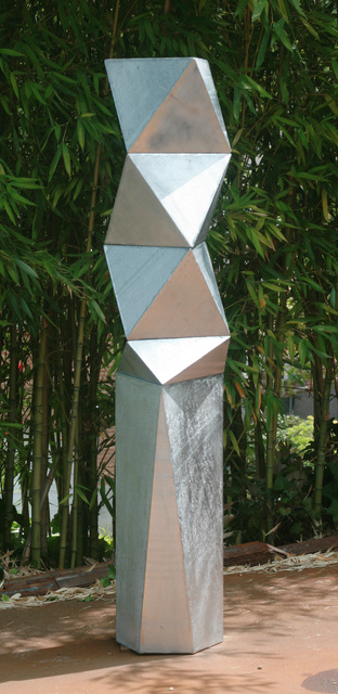 Peter Millett, 'Silver Gal ', 2015, Sculpture, Galvanized steel, Bentley Gallery