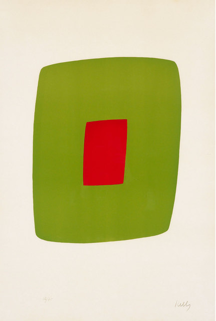 Ellsworth Kelly, 'Green with Red (Vert avec Rouge)', 1964-65, Print, Original lithograph in color on BFK RIVES paper, Robert Fontaine Gallery