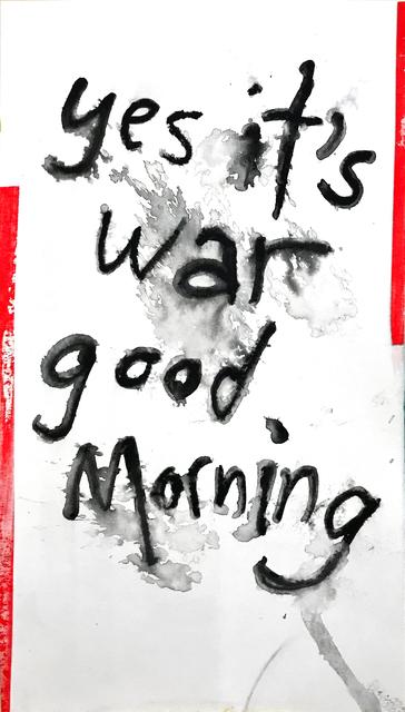 Daniel Scharfman, 'yes it's war', 2019, MvVO ART