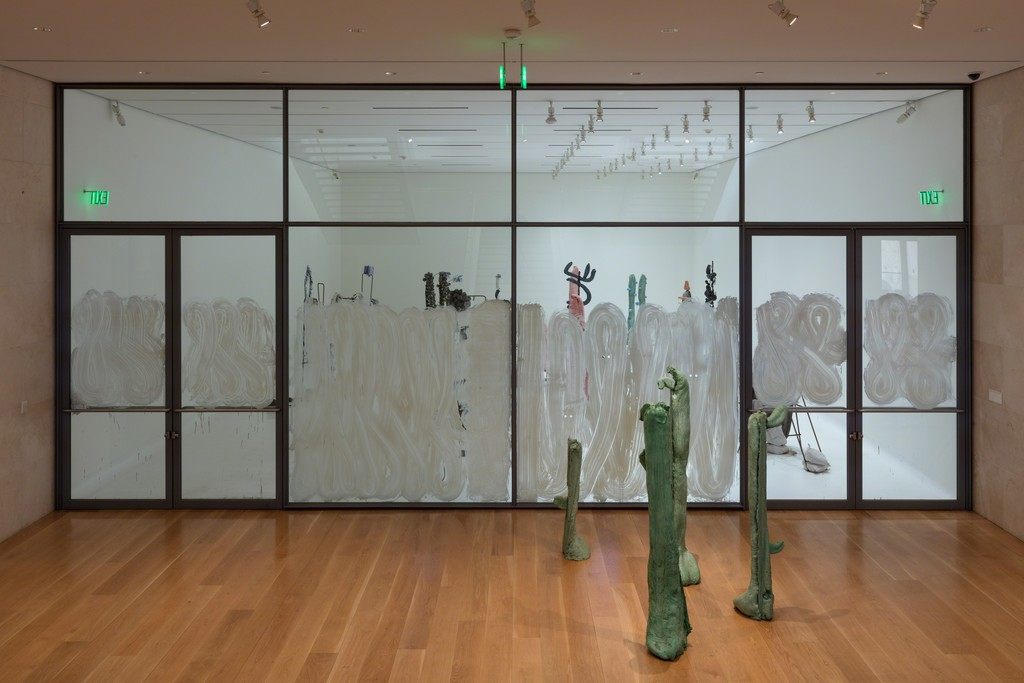 Installation view, Sightings: Michael Dean, Lost True Leaves, Nasher Sculpture Center, Photo: Kevin Todora.