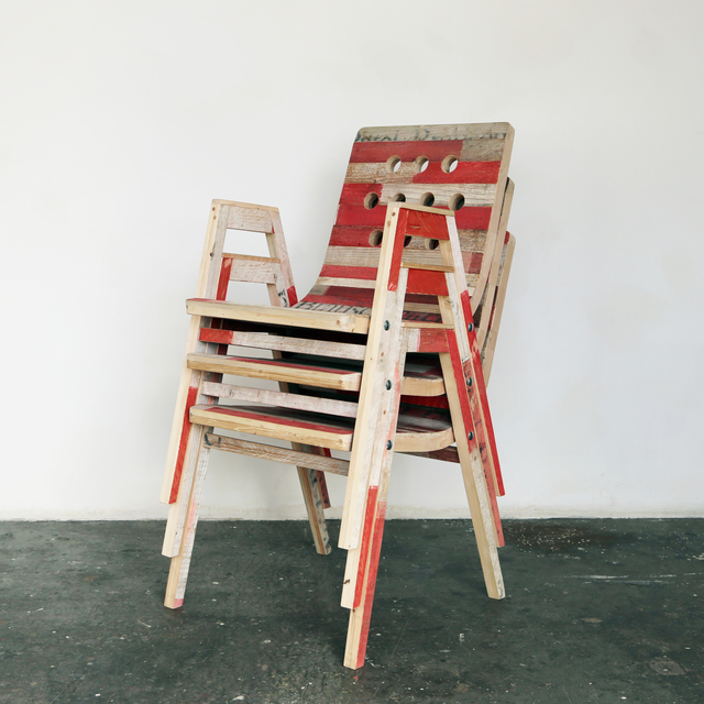 , 'Ohne Titel (Roland Rainer Stadthallensessel L10),' 2016, Christine König Galerie