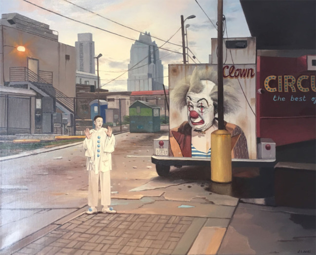 , 'Clown in Austin,' 2017, Wally Workman Gallery