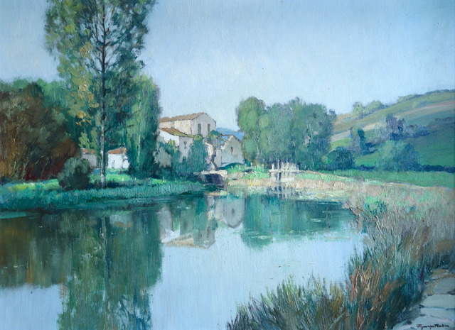 Georges Charles Robin, 'Moulin sur une Rivière', ca. 1950s, Painting, Oil on Canvas, Gladwell & Patterson