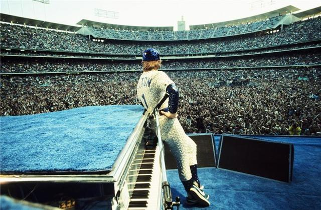 , 'Terry O'Neill – Elton John, Dodgers Stadium, Los Angeles ,' 1975, Mouche Gallery